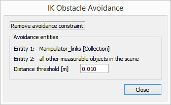 Inverse kinematics dialog